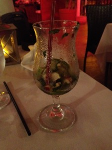 Apple cinnamon mojito at Madame Janette's (amazing outdoor restaurant)