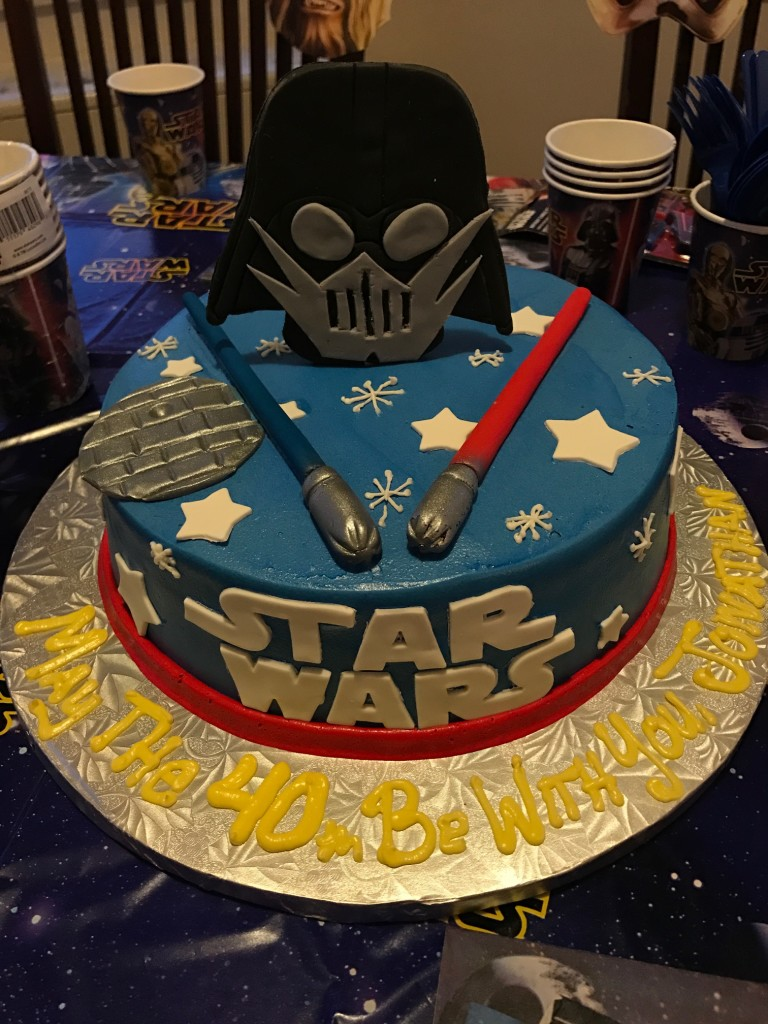 Husband's cake tonight